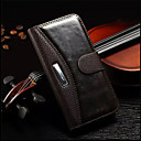 cheap iPhone Cases-Case For Apple iPhone 6 iPhone 6 Plus Card Holder Wallet with Stand Flip Full Body Cases Solid Color Hard Genuine Leather for iPhone 7
