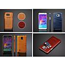 hesapli Galaxy S Serisi Kılıfları / Kapakları-Pouzdro Uyumluluk Samsung Galaxy Samsung Galaxy Note Kart Tutucu Arka Kapak Tek Renk PU Deri için Note 5 Note 4