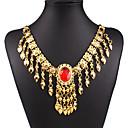 hesapli Kolyeler-Kadın's Reçine Püskül Uçlu Kolyeler - 18K Altın Kaplama Damla Püskül, Moda Altın Kolyeler Mücevher Uyumluluk Özel Anlar, Doğumgünü, Hediye
