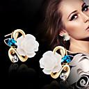 Χαμηλού Κόστους Σκουλαρίκια-Γυναικεία Κουμπωτά Σκουλαρίκια - Λουλούδι Κίτρινο / Ροζ / Μπλε Απαλό Για Γάμου Πάρτι Καθημερινά