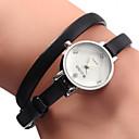 hesapli Kadın Saatleri-Kadın's Moda Saat Bilezik Saat Japonca Quartz 30 m Gündelik Saatler Deri Bant Analog İhtişam Siyah / Beyaz / Kahverengi - Beyaz Siyah Kahverengi Bir yıl Pil Ömrü
