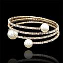 hesapli Bilezikler-Altın - Altın Kol Düğmesi, Boncuk Dizisi, Tenis Bilezikler Gümüş / Gül Altın Uyumluluk Düğün Parti Yıldönümü