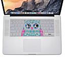preiswerte Mac-Aufkleber-Eulenentwurf Silikontastatur-Abdeckungshaut für macbook Luft 13.3, MacBook Pro mit Retina 13 15 17 US-Layout