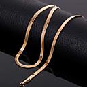 Недорогие Колье и ожерелья-Ожерелья-цепочки - Титановая сталь Золотой Ожерелье Бижутерия Назначение Свадьба, Для вечеринок, Повседневные