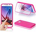 hesapli Telefon Montajları ve Tutucuları-Pouzdro Uyumluluk Samsung Galaxy Samsung Galaxy Kılıf Pencereli Flip Şeffaf Tam Kaplama Kılıf Tek Renk Silikon için S6