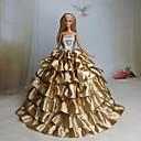 preiswerte Barbie Kleidung-Party/Abends Kleider Für Barbie-Puppe Spitze Organza Kleid Für Mädchen Puppe Spielzeug