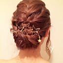 hesapli Saç Takıları-Kadın's madeni / Zarif Pirinç / alaşım Saç Klipsi Solid