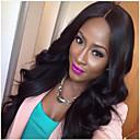 Χαμηλού Κόστους Μακιγιάζ και περιποίηση νυχιών-Συνθετικές Περούκες Κυματιστό Μέσο μέρος Συνθετικά μαλλιά Η καλύτερη ποιότητα Φυσικό Χρώμα Περούκα Γυναικεία Μακρύ Χωρίς κάλυμμα