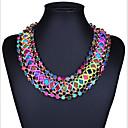 hesapli Yüzükler-Kadın's Gerdanlıklar - Bohem, Avrupa, Moda Elyapımı Ekran Rengi Kolyeler Mücevher Uyumluluk