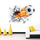 hesapli Duvar dekorasyonu-Romantizm Karton Spor 3D Duvar Etiketler 3D Duvar Çıkartması Dekoratif Duvar Çıkartmaları, Vinil Ev dekorasyonu Duvar Çıkartması Duvar