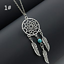 Buy Women's Pendant Necklaces Alloy Feather Fashion 2# 3# 4# 5# 6# Jewelry Wedding Party Daily Casual 1pc