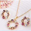 preiswerte Ohrringe-Niedlich / Party-Damen-Halskette / Ohrring(Rose Gold überzogen / Legierung / Strass)