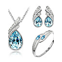 cheap Bracelets-Women's Crystal Jewelry Set - Crystal Angel Wings Ladies Include Yellow / Green / Blue For Wedding Party Birthday Engagement Gift Daily / Earrings / Necklace / Bracelets & Bangles