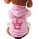 baratos Acessórios & Roupas para Cachorros-Gato Cachorro Camisola com Capuz Roupas para Cães Tiaras e Coroas Rosa claro Algodão Ocasiões Especiais Para animais de estimação Mulheres