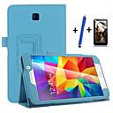 voordelige Galaxy Note-serie hoesjes / covers-hoesje Voor Samsung Galaxy met standaard Automatisch aan / uit Flip Volledig hoesje Effen Kleur Hard PU-nahka voor Tab 4 7.0