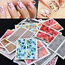 hesapli Makyaj ve Tırnak Bakımı-50 pcs Çiçek / Soyut / Moda Su Transfer Etiketi / 3D Çivi Çıkartmaları Günlük