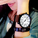 cheap LED Corn Lights-Women's Wrist Watch Quartz Casual Watch Leather Band Analog Fashion Elegant Black / Brown - Black / White Black White / Brown One Year Battery Life / KC 377A