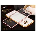 رخيصةأون حافظات / جرابات هواتف جالكسي S-غطاء من أجل Samsung Galaxy S8 Plus / S8 / S7 edge تصفيح / شفاف غطاء خلفي لون سادة TPU