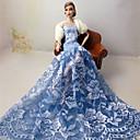 levne barvé náčiní a vývrtky-Svatba Šaty Pro Barbiedoll Polyurethanová kůže Šaty Pro Dívka je Doll Toy