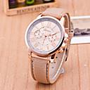 cheap Women's Watches-Geneva Women's Wrist Watch Quartz Leather Black / White / Blue Casual Watch Analog Ladies Casual Fashion - Pink Light Blue Khaki One Year Battery Life / Tianqiu 377