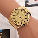 저렴한 남성용 시계-남성용 손목 시계 석영 스테인레스 스틸 골드 캐쥬얼 시계 아날로그 참 클래식 - 골드 화이트 블랙 1 년 배터리 수명 / TY 377A