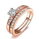 preiswerte IP-Kameras-Damen Kristall Statement-Ring Diamantimitate Aleación damas Klassisch Modisch Moderinge Schmuck Silber / Golden Für Hochzeit Party Eine Größe