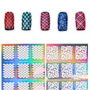 Buy 2016 New Silver Hollow Stencil Nail Stickers Fish Scale Pattern DIY Stamping Polish Guide Manicure Tools