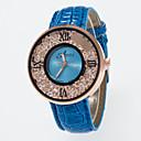 baratos Relógios Femininos-imitação de quartzo das mulheres diamante pu banda charme / moda preto / branco / azul / vermelho / marrom / rosa