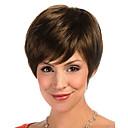 hesapli Makyaj ve Tırnak Bakımı-Sentetik Peruklar Düz Sentetik Saç Peruk Kadın's Şort Bonesiz Bej