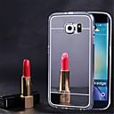 baratos Capinhas para Galaxy Série S-Capinha Para Samsung Galaxy Samsung Galaxy S7 Edge Espelho Capa traseira Sólido TPU para S7 edge / S7 / S6 edge plus