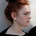ieftine Cercei-Pentru femei Cercei Stud Κυκλικά femei Personalizat stil minimalist cercei Bijuterii Argintiu / Auriu Pentru Nuntă Petrecere Zilnic Casual
