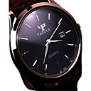 cheap Key Chains-Men's Wrist Watch Quartz Water Resistant / Water Proof Calendar / date / day Stainless Steel Band Analog Charm Black / Brown - Black Brown / White Ethiopia One Year Battery Life / KC 377A