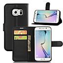 رخيصةأون جسم السيارة الديكور والحماية-غطاء من أجل Samsung Galaxy S8 Plus / S8 / S7 edge محفظة / حامل البطاقات / مع حامل غطاء كامل للجسم لون سادة جلد PU