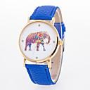 preiswerte Damenuhren-Damen Armbanduhr Quartz Schlussverkauf Leder Band Analog Charme Modisch Schwarz / Weiß / Blau - Blau Rosa Hellblau