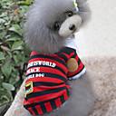 baratos Acessórios para Nintendo 3DS-Cachorro Camiseta Roupas para Cães Riscas Vermelho Azul Algodão Ocasiões Especiais Para animais de estimação Homens Mulheres Casual