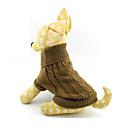 hesapli Wii Aksesuarları-Kedi Köpek Kazaklar Köpek Giyimi Solid Kahverengi Yün Kostüm Evcil hayvanlar için Erkek Kadın's