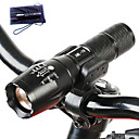 cheap Bike Lights-A100 LED Flashlights / Torch LED Cree® T6 1 Emitters 1000 lm 5 Mode Tactical Zoomable Waterproof Camping / Hiking / Caving Everyday Use Police / Military