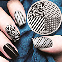 cheap Makeup & Nail Care-2016 latest version fashion geometric pattern nail art stamping image template plates