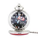 baratos Relógios Femininos-Homens Relógio de Bolso Quartzo Gravação Oca Lega Banda Analógico Prata