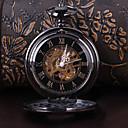 hesapli Erkek Saatleri-Erkek Cep kol saati mekanik izle Otomatik kendi hareketli Derin Oyma Alaşım Bant Analog Lüks Siyah - Siyah
