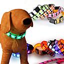 hesapli Küpeler-Kedi Köpek Kolye Köpek Giyimi LED Moda Solid Kırmzı Yeşil Mavi Pembe Herhangi Bir Renk Kostüm Evcil hayvanlar için