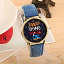 hesapli Kadın Saatleri-Kadın's Quartz Bilek Saati Büyük indirim PU Bant Vintage Moda Siyah Beyaz Mavi Kırmızı Yeşil Sarı