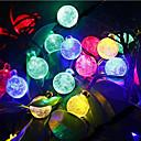 hesapli RGB Kontolörleri-6m Dizili Işıklar 30 LED'ler Dip Led Sıcak Beyaz / RGB / Beyaz Şarj Edilebilir / Su Geçirmez 100-240 V / IP44