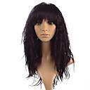 hesapli Makyaj ve Tırnak Bakımı-Sentetik Peruklar Kinky Düz Bantlı Sentetik Saç Isı Dirençli Siyah / Kahverengi Peruk Kadın's Uzun Ön Dantel Siyah