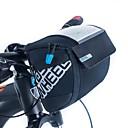 hesapli USB Kabloları-ROSWHEEL 3 L Bisiklet Gidon Çantaları Nemgeçirmez, Giyilebilir, Darbeye Dayanıklı Bisiklet Çantası PU Deri / Kumaş / File Bisikletçi Çantası Bisiklet Çantası Bisiklete biniciliği / Bisiklet
