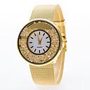 cheap Women's Watches-Women's Fashion Watch Quartz Casual Watch Alloy Band Analog Silver / Gold - Silver Golden