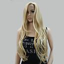 preiswerte Make-up & Nagelpflege-Synthetische Perücken Damen Wellen Blond Mit Pony Synthetische Haare Strähnchen / Balayage-Technik / Seitenteil Blond Perücke Lang Kappenlos Blond Hivision