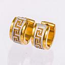 cheap Earrings-Men's Crystal Stud Earrings / Hoop Earrings - Rose Gold, Sterling Silver Black / Golden For Christmas Gifts / Wedding / Party