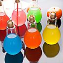 hesapli Su Şişeleri-Yaratıcı ampul cam su şişesi taşınabilir suyu bardağı