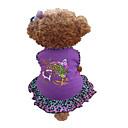 tanie Naklejki i szablony-Pies Suknie Ubrania dla psów Serce Zwierzę Purple Bawełna Kostium Dla zwierząt domowych